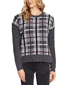 Textured Plaid Sweater