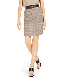 Belted Plaid Skirt, Created For Macy's
