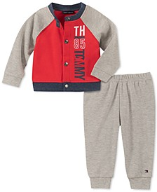 Baby Boys 2-Pc. Colorblocked Cardigan & Pants Set