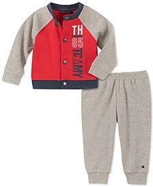 Tommy Hilfiger Baby Boys 2-Pc. Colorblocked Cardigan & Pants Set