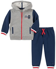 Baby Boys 2-Pc. Colorblocked Hoodie & Pants Set