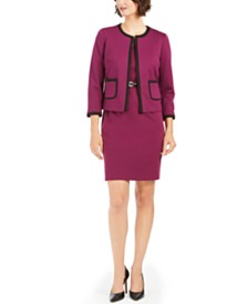 Nine West Belted Sheath Dress & Piped Jacket