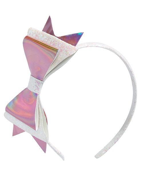On the Verge Little & Big Girls Layered Glitter Bow Headband