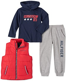 Baby Boys 3-Pc. Vest, Hoodie & Pants Set