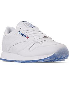 Reebok Men's Classic Leather Ice Casual Sneakers from Finish Line