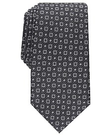 Tasso Elba Men's Classic Neat Silk Tie, Created For Macy's