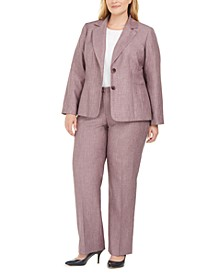 Plus Size 2-Button Pants Suit
