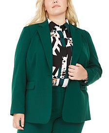 Bar III Plus Size Stretch Blazer, Created for Macy's