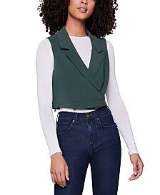 BCBGeneration Cropped Double-Breasted Vest