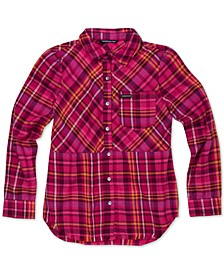 Big Girls Frayed Flannel Shirt