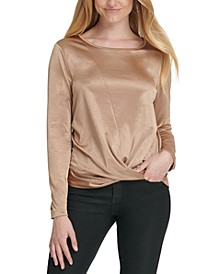 Satin Twist-Hem Top