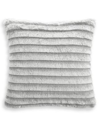 "Faux Fur Fringe 18""x18"" Decorative Pillow, Created for Macy's"