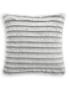 """Faux Fur Fringe 18""""x18"""" Decorative Pillow, Created for Macy's"""