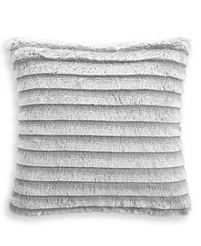 "Whim by Martha Stewart Collection Faux Fur Fringe 18""x18"" Decorative Pillow, Created for Macy's"