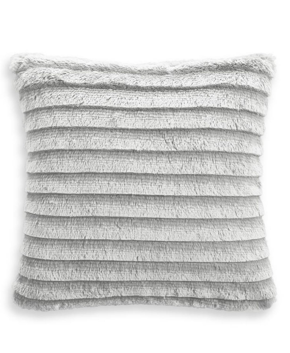 "Martha Stewart Collection Whim Faux Fur Fringe 18""x18"" Decorative Pillow"
