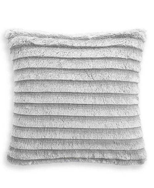 """Martha Stewart Collection Faux Fur Fringe 18""""x18"""" Decorative Pillow, Created for Macy's"""