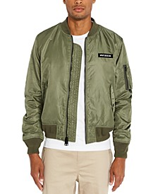 Men's Logo Graphic Bomber Jacket