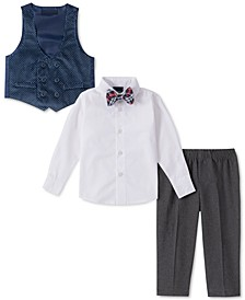 Baby Boys 4-Pc. Plaid Bowtie, Shirt, Double-Breasted Vest & Pants Set