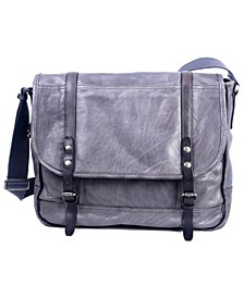 Mountain Breeze Leather Messenger Bag