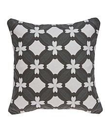 Noma Transitional Grey and White Pillow Cover