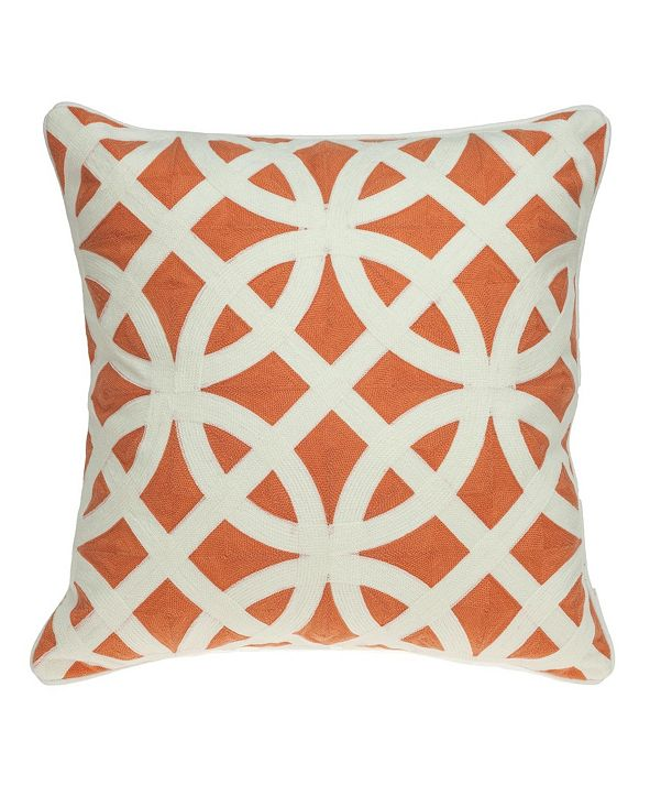 Parkland Collection Chano Transitional Multicolored Pillow Cover with Polyester Insert