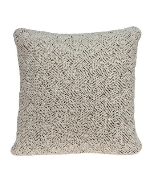 Parkland Collection Aldo Transitional Beige Pillow Cover with Polyester Insert