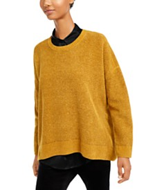 Eileen Fisher Organic Cotton Crewneck Sweater, Regular & Petite
