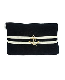 Parkland Collection Bounty Nautical Blue Pillow Cover With Poly Insert