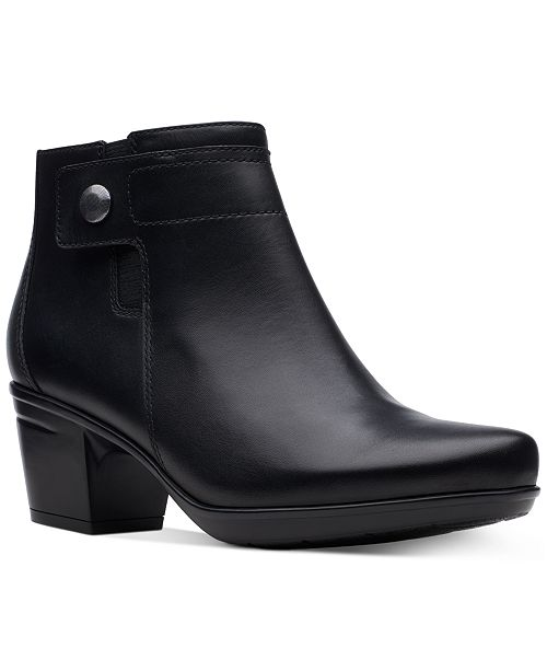 Clarks Women's Emslie Jada Leather Booties