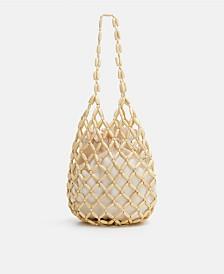 Mango Beaded Wood Bag