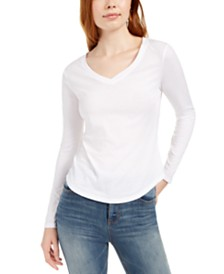 Ultra Flirt Juniors' Long-Sleeved Textured Boyfriend T-Shirt