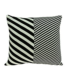 Arthur Transitional White Pillow Cover With Down Insert