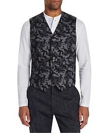 Tallia Men's Slim-Fit Stretch Camo Leopard Print Knit Vest