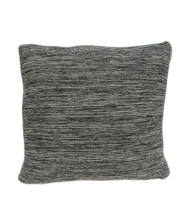 Parkland Collection Diani Transitional Grey Pillow Cover with Polyester Insert