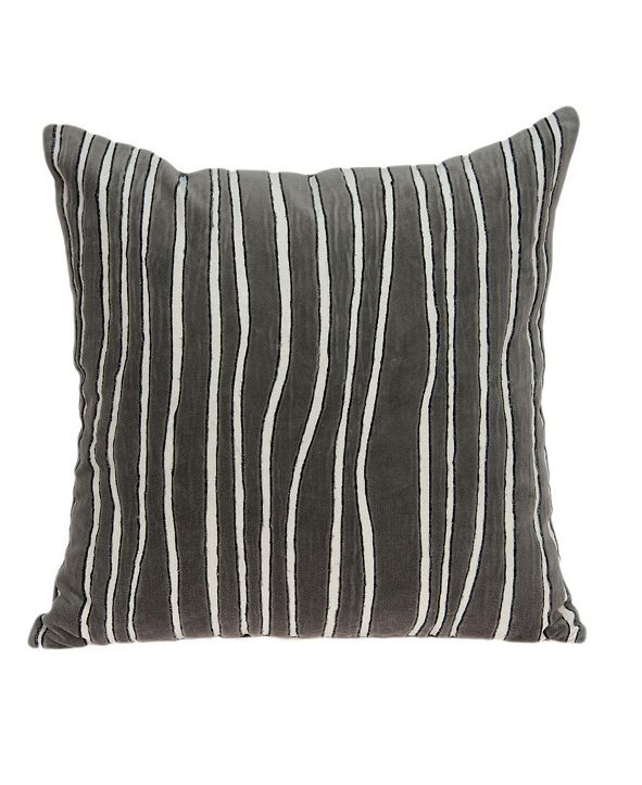 Parkland Collection Pilan Transitional Grey Pillow Cover