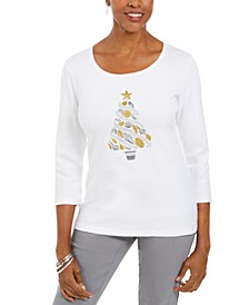 Cotton Seashell Tree-Print T-Shirt, Created For Macy's