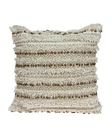 Parkland Collection Hailey Bohemian Beige Pillow Cover With Down Insert