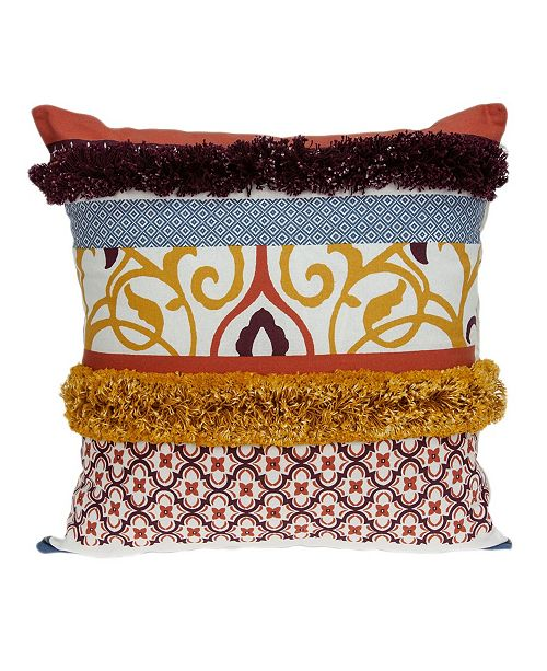 Parkland Collection Juno Bohemian Multicolor Pillow Cover with Polyester Insert