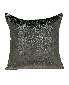 Yaku Transitional Grey Pillow Cover With Down Insert