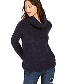 Petite Faux-Sherpa Cowlneck Sweater, Created for Macy's