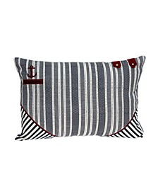 Oceana Nautical Blue Pillow Cover with Polyester Insert