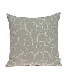 Parkland Collection Nabia Transitional Beige Pillow Cover With Poly Insert