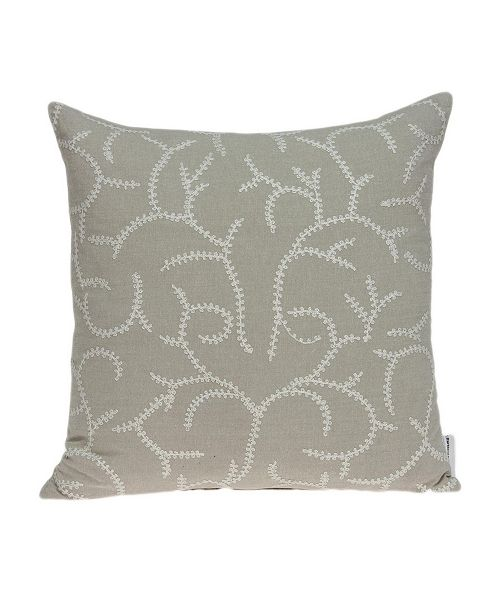 Parkland Collection Nabia Transitional Beige Pillow Cover with Polyester Insert