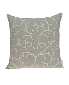 Nabia Transitional Beige Pillow Cover With Down Insert