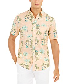 Men's Regular-Fit Moisture-Wicking Performance Stretch Floral-Print Shirt, Created for Macy's