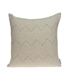 Diana Transitional Beige Pillow Cover With Down Insert