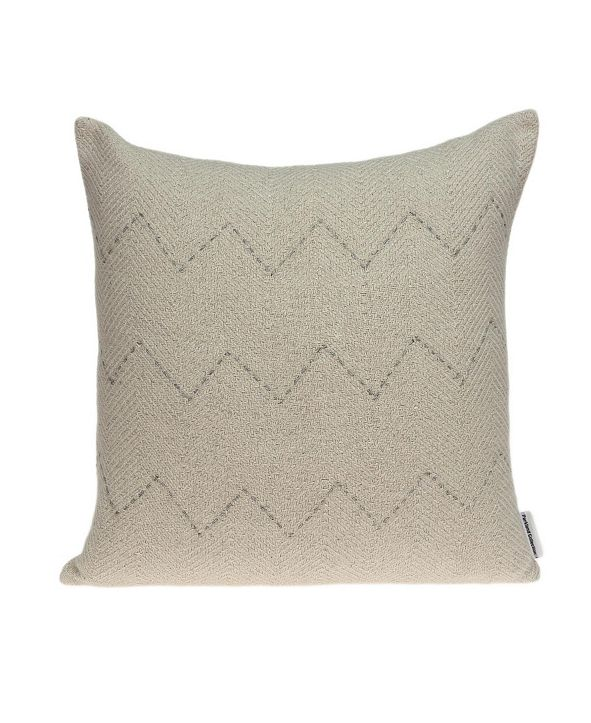 Parkland Collection Diana Transitional Beige Pillow Cover With Down Insert