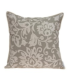 Amila Transitional Tan Pillow Cover With Down Insert