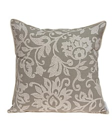 Parkland Collection Amila Transitional Tan Pillow Cover With Down Insert