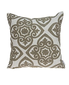 Noori Bling Ivory Pillow Cover With Down Insert